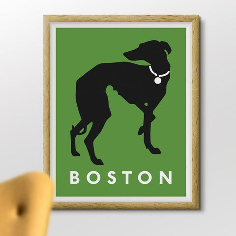 Boston Greyhound Dog 11 x 14 Print