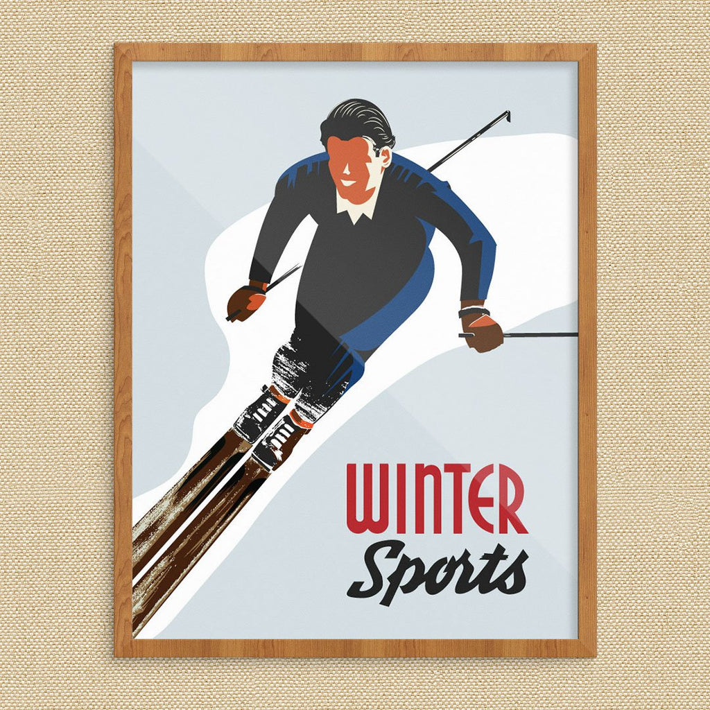 Winter Sports Skier Print