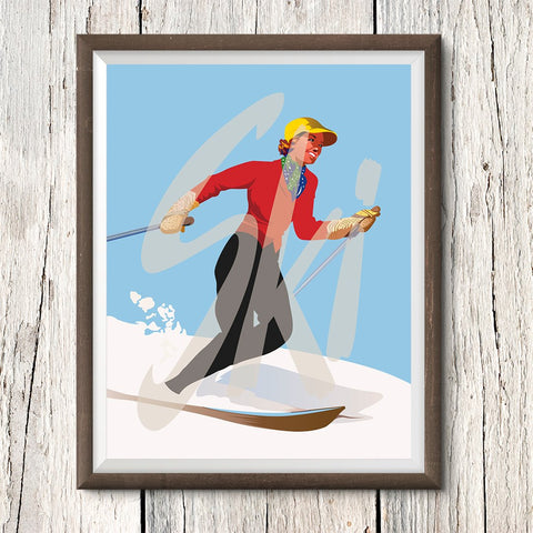 Retro Skiing Posters & Prints with a Contemporary Twist – Fridgedoor