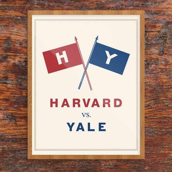 Vintage Harvard vs Yale Football Game Print