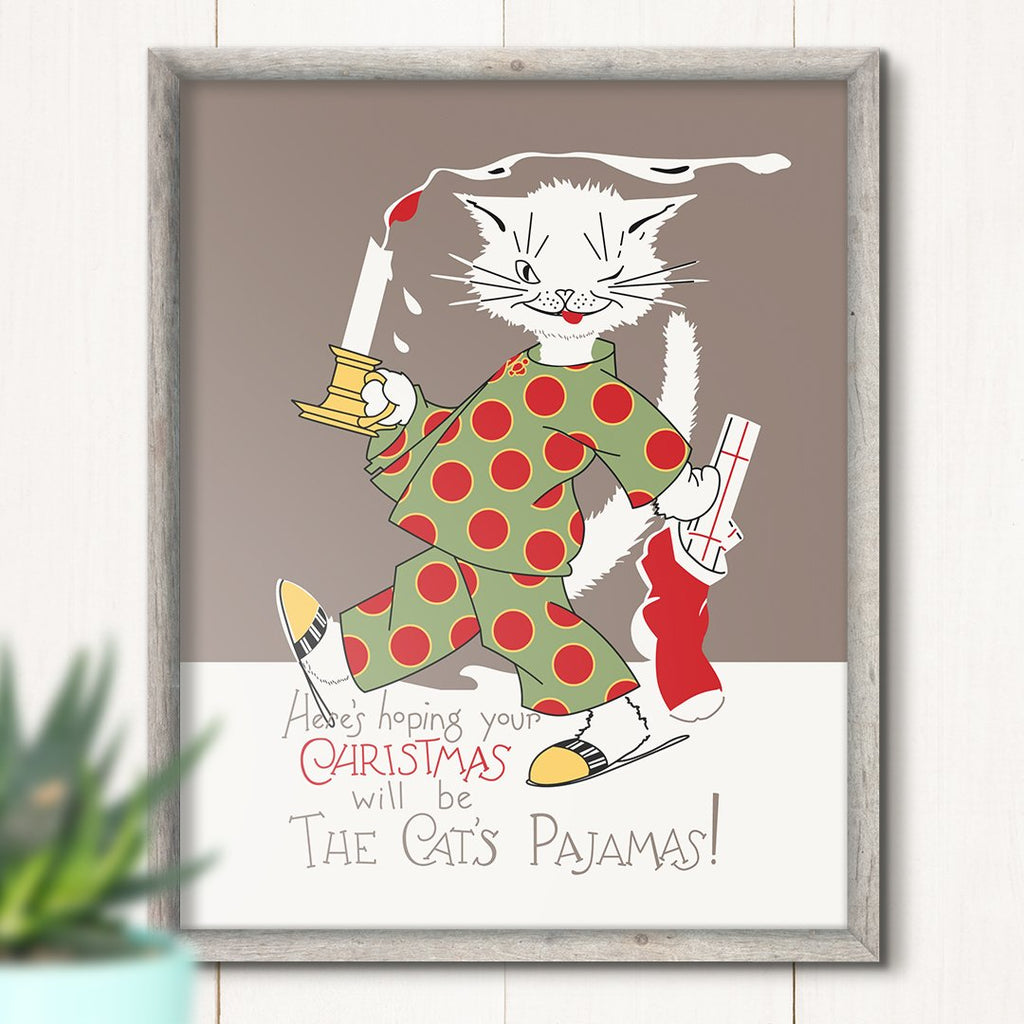 the cats pajamas christmas print