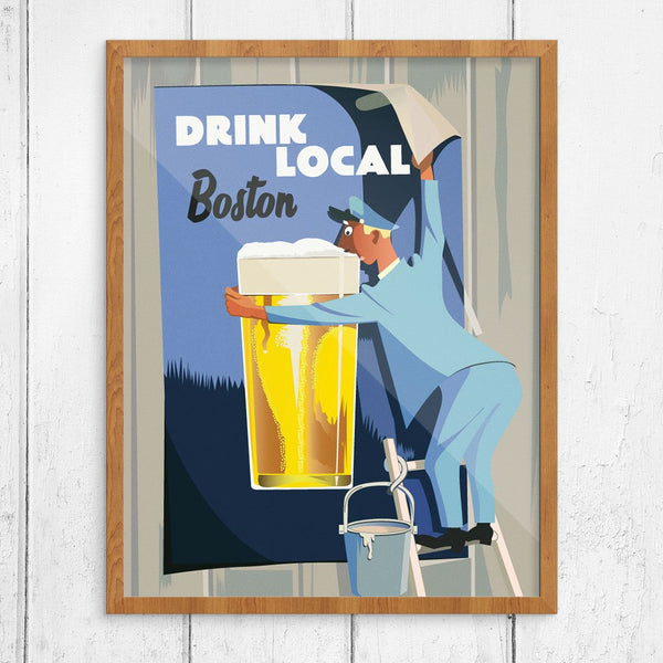 Drink Local Boston Sign Painter Print