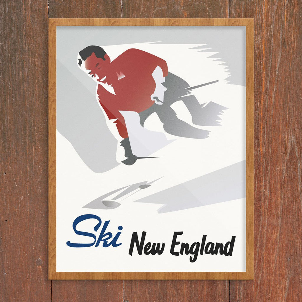 Ski New England Dashing Skier Print