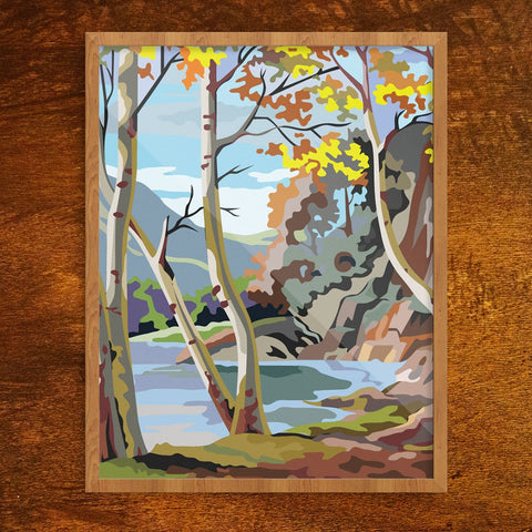 Paint By Number Autumn Scene Print