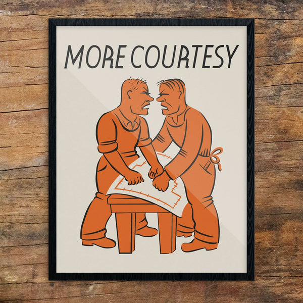More Courtesy WPA Workplace 11 x 14 Print