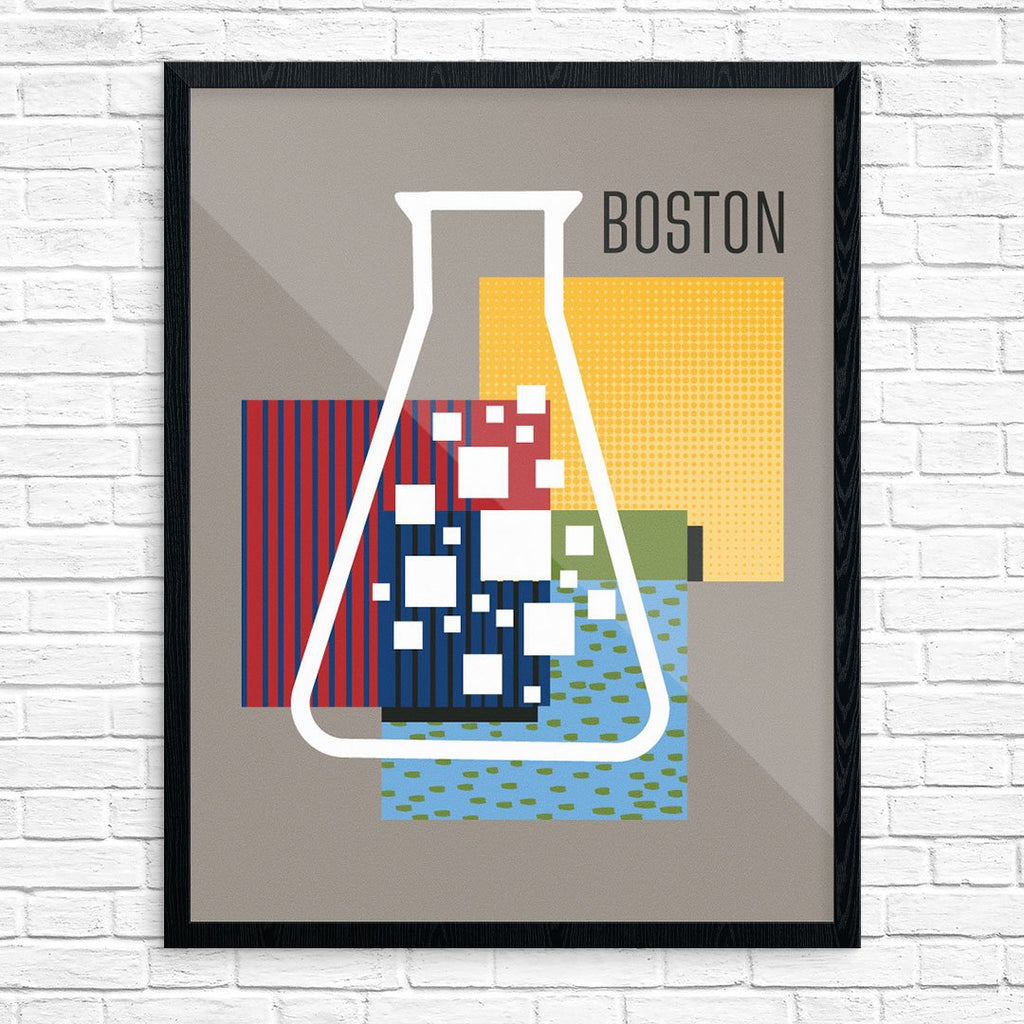 Boston Chemistry Beaker Print