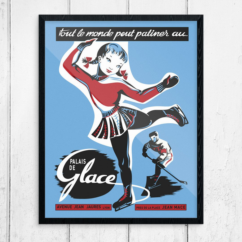 Everyone Can Skake at the Ice Palace 11 x 14 Print