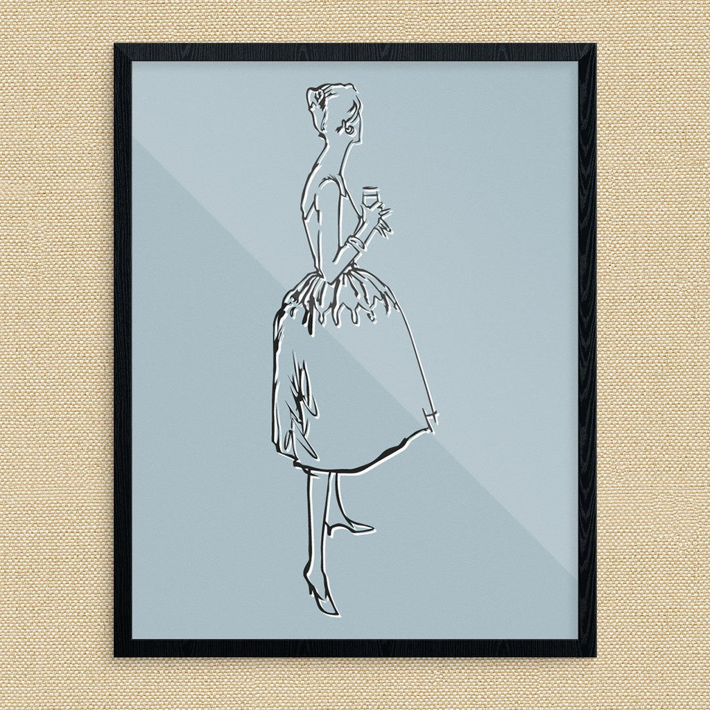 Elegant Cocktail Time Gal Print