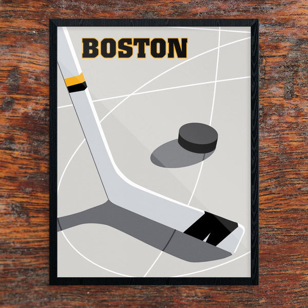 Boston Hockey 11 x 14 Print