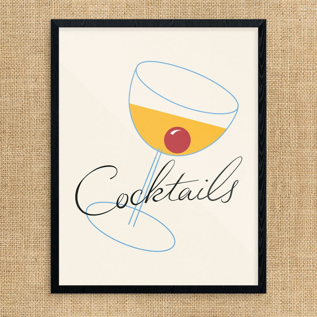 Vintage Manhattan Cocktails Print