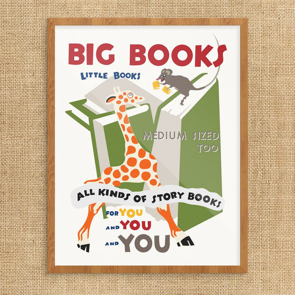 Big Books Little Books Print