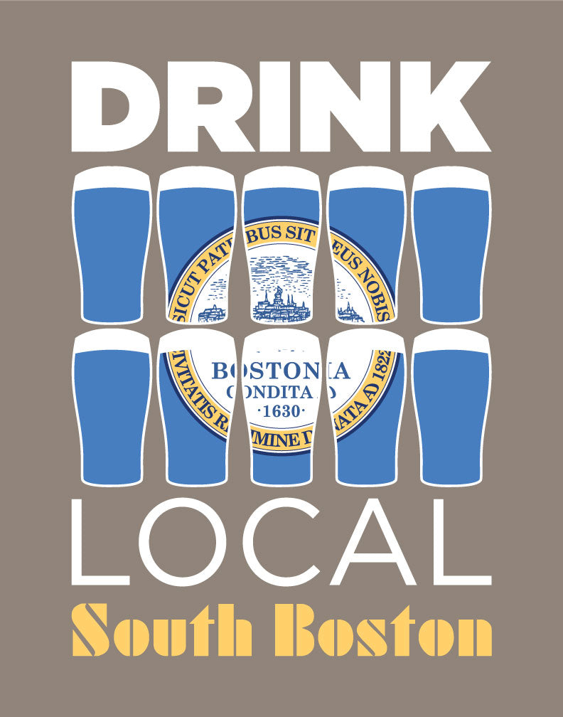 Drink Local Beer Glasses South Boston Magnet
