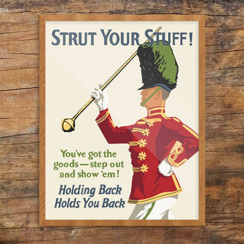 Strut Your Stuff Motivational Workplace Print