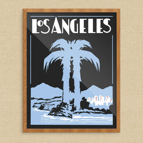 Los Angeles Art Deco Palm Tree Print