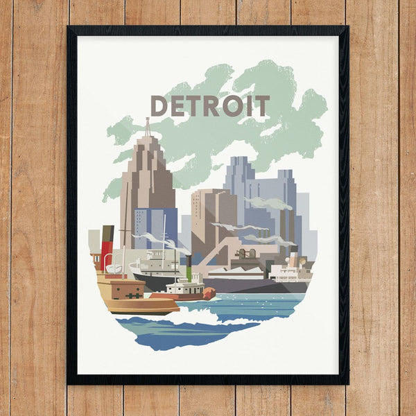 Detroit Harbor Print