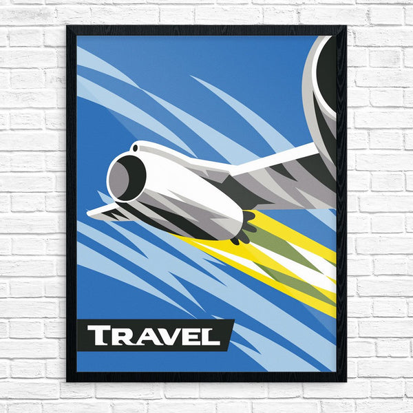 Jet Airplane Travel Print