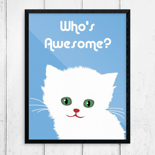 Who's Awesome Cut Cat Print