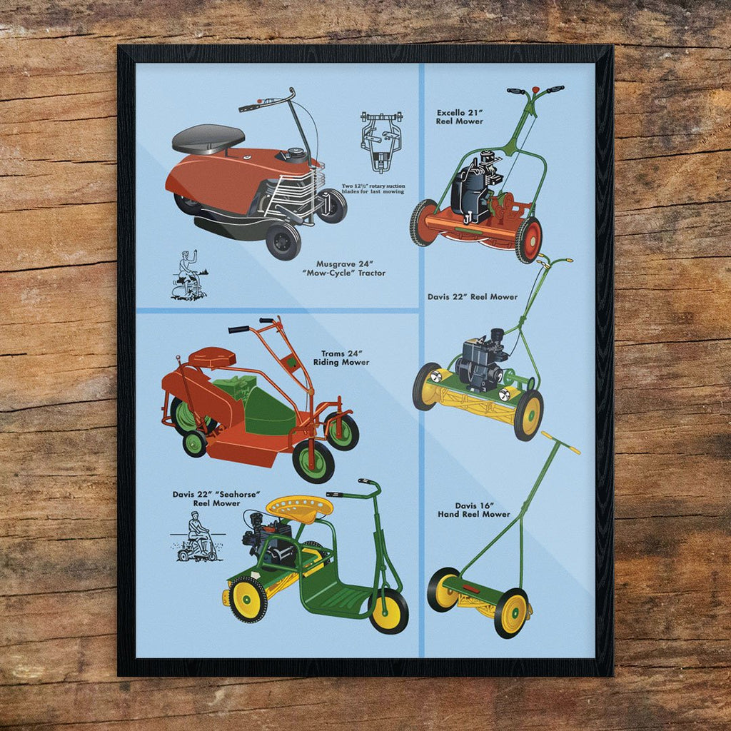 Lawnmower Sampler Print