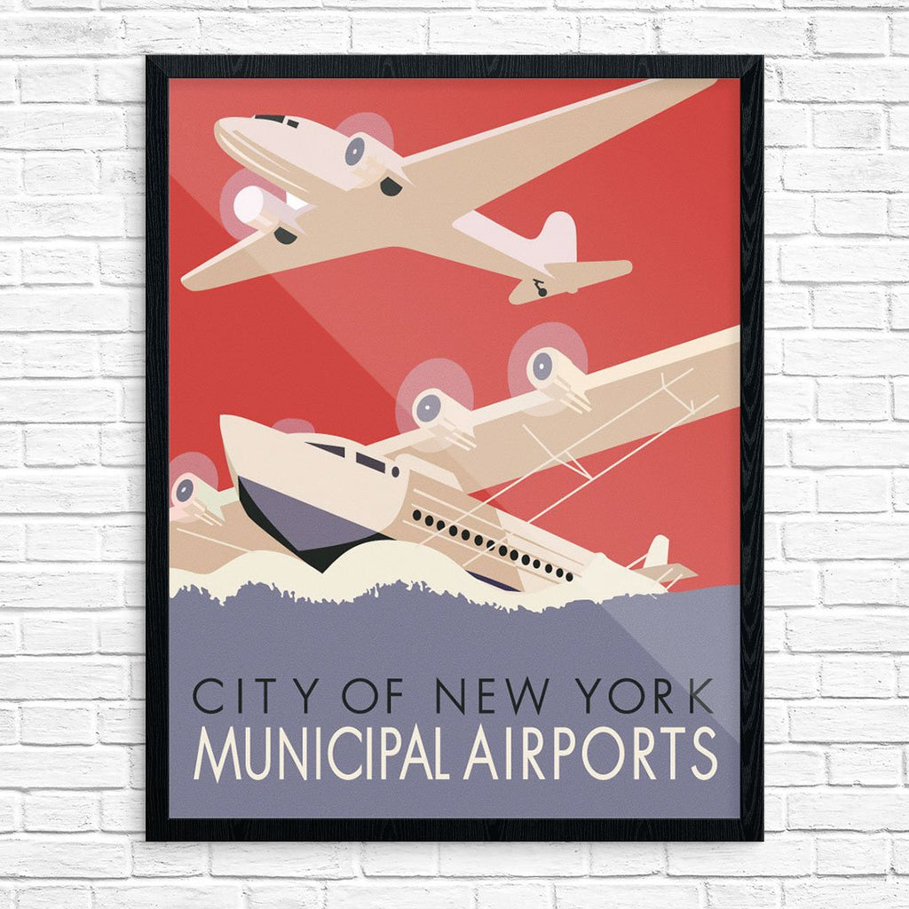 City of New York Municipal Airports WPA Print