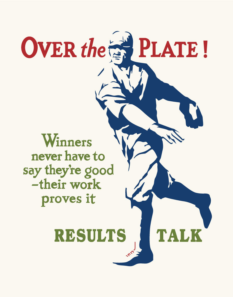 Over the Plate Results Talk Mather & Co Motivational Baseball Magnet