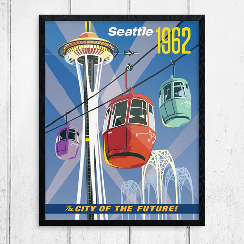 Seattle City of the Future 1962 World's Fair Print