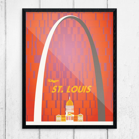 St. Louis Gateway Arch Vintage Travel Poster Print