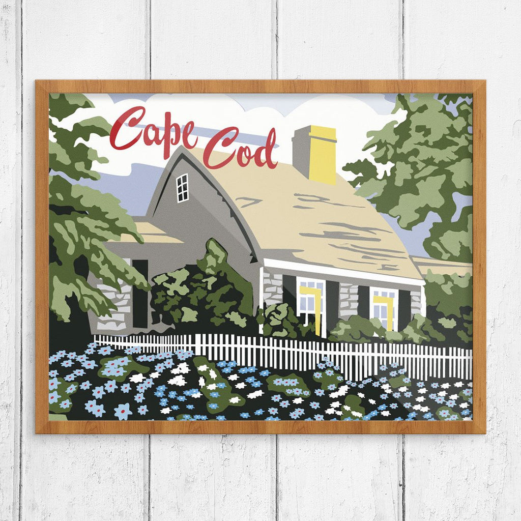 Paint By Number Cape Cod Cottage Print