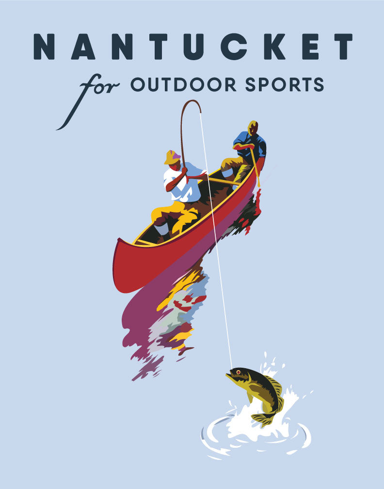 Nantucket for Outdoor Sports Fishing Magnet