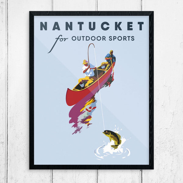 Nantucket for Outdoor Sports Fishing Print