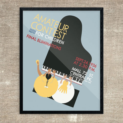 Amateur Piano Contest for Children Print
