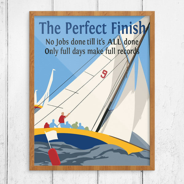 The Perfect Finish Mather & Co Motivational Workplace Print