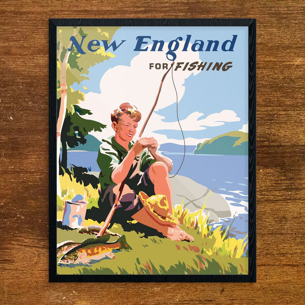 New England for Fishing Print