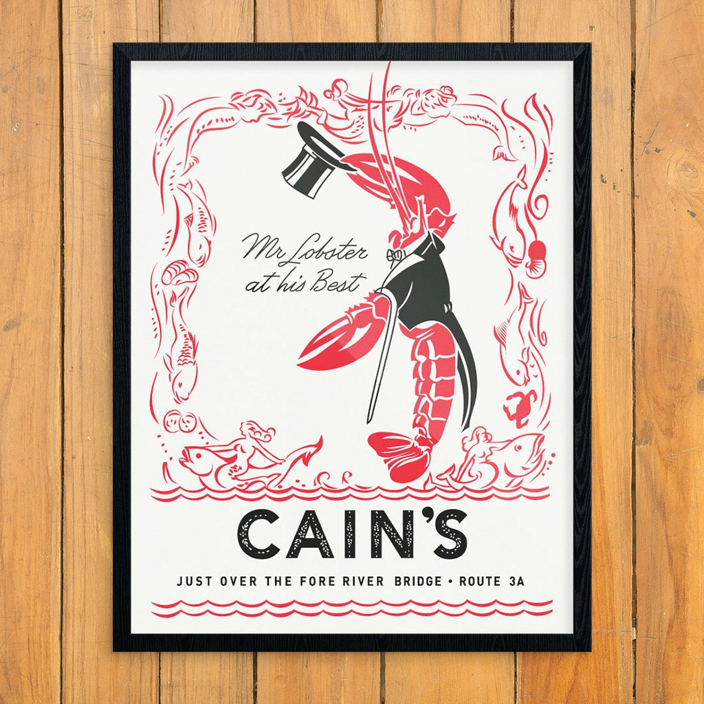 Cain's Mr. Lobster at His Best Menu Print