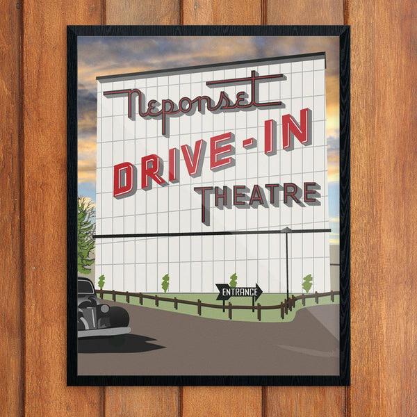 Neponset Drive-In Dorchester Print