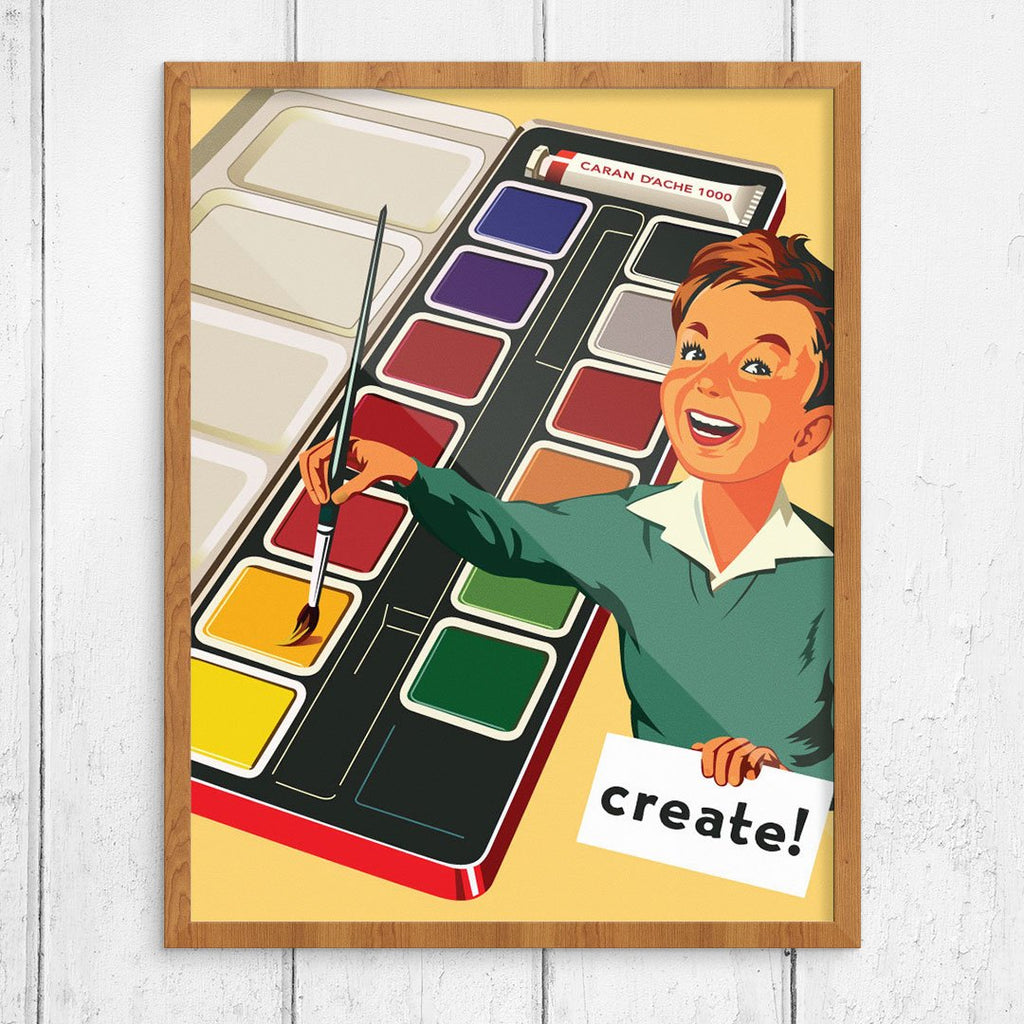 Creative Kid Water Color Set Print