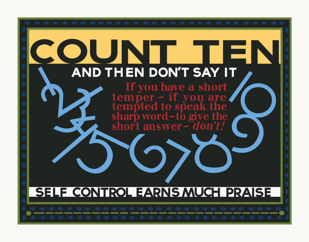 mather & Co Count to Ten and Then Don't Say it Motivational Poster