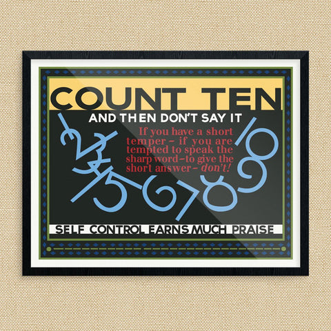 Count to Ten and Then Don't Say it Motivational Poster