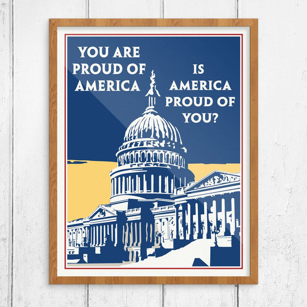 You Are Proud of America Mather & Co Motivational Workplace Print