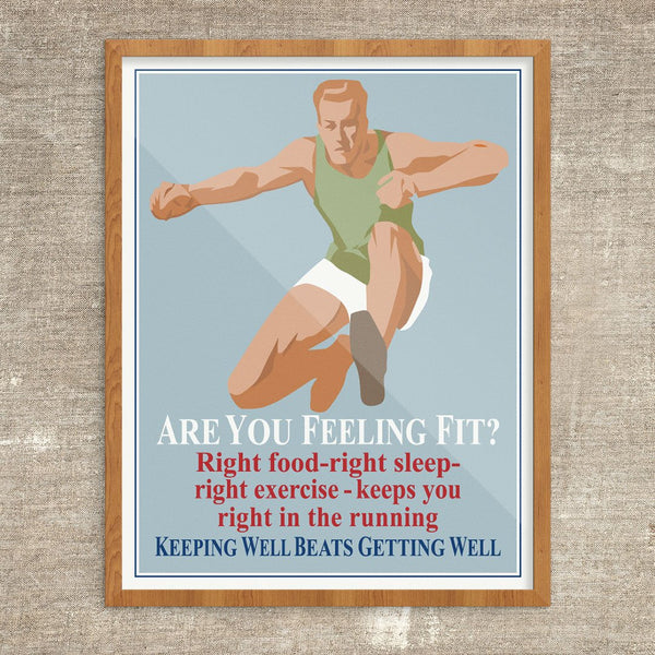 Are You Feeling Fit Mather & Co Motivational Workplace Print