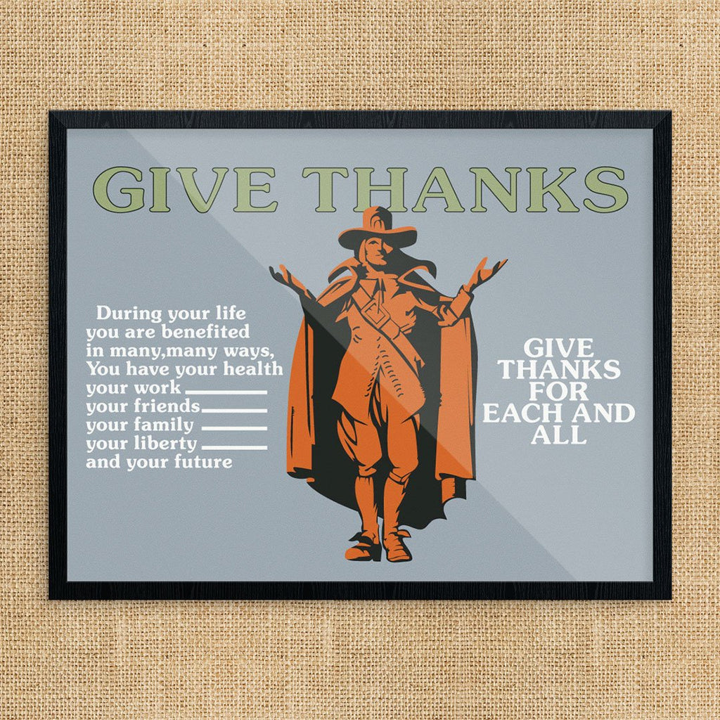 Give Thanks Mather & Co Motivational Workplace Print