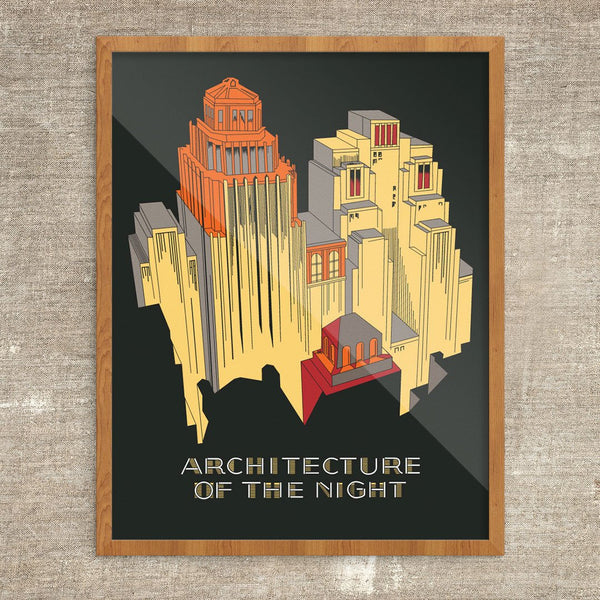 Architecture of the Night Vintage Print