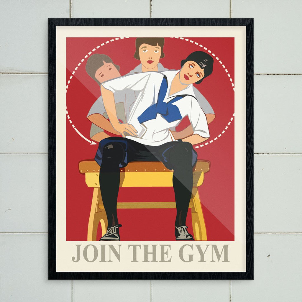 Join the Gym Vintage Athletics Print