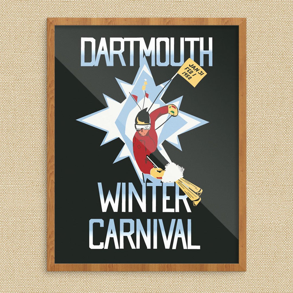 Dartmouth Winter Carnival 1958 Ski Poster