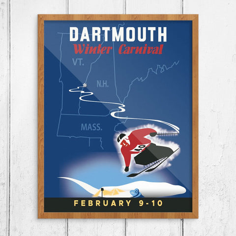 Dartmouth Winter Carnival 1940 Ski Poster