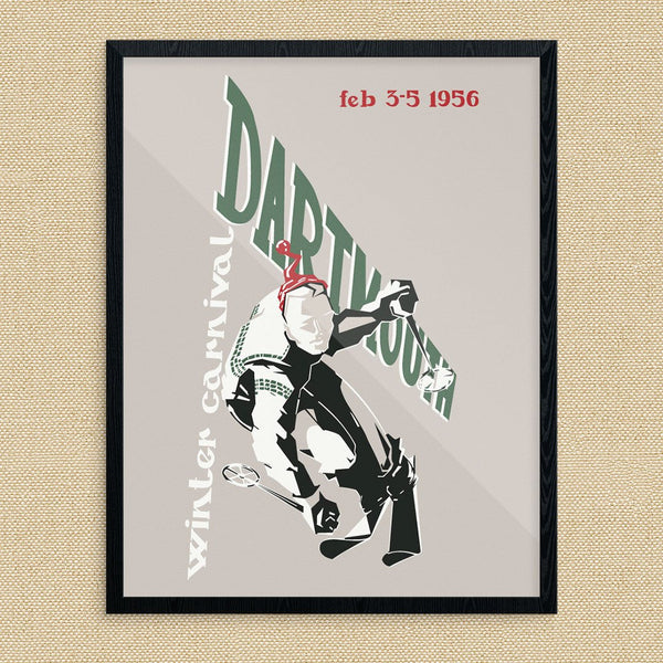 Dartmouth Winter Carnival 1956 Ski Poster