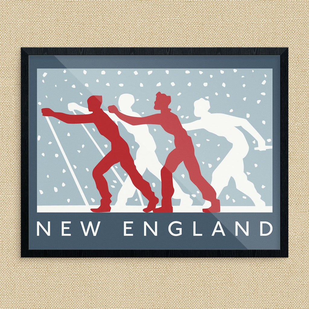 New England Cross Country Skiers Print