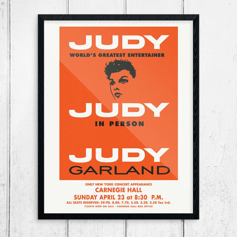 Judy Garland at Carnegie Hall Concert Poster Print