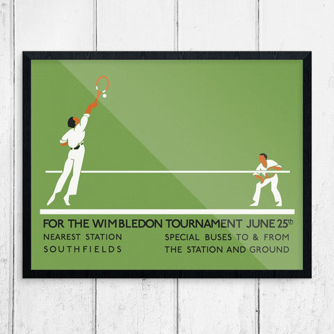 Wimbledon Tennis Tournament Vintage Print