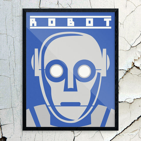 The Future is Here Robot Head Print