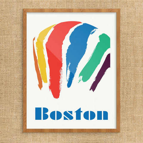 Boston Gas Tank Print